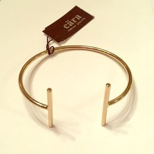 """Gorgeous Double """"T"""" Cuff Bracelet By Cara"""